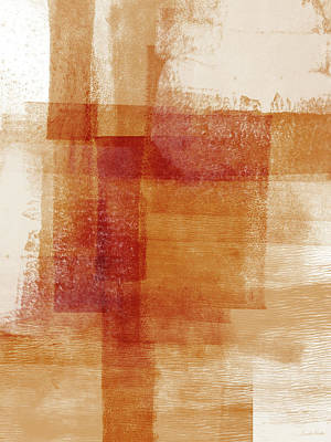 Sienna 2- Abstract Art By Linda Woods Poster