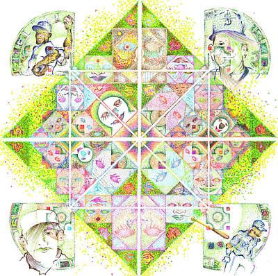 Sierpinski's Baseball Diamond Poster by Doug Johnson