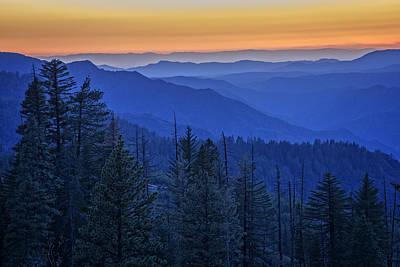 Sierra Fire Poster by Rick Berk