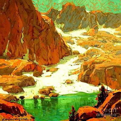 Sierra Landscape Circa 1920 Poster by Peter Gumaer Ogden Collection