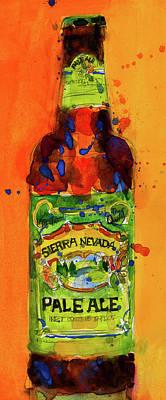 Sierra Nevada Pale Ale Beer Art Print From Original Watercolor - Man Cave - College Dorm -bar Art Poster