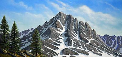 Sierra Peaks Poster by Frank Wilson