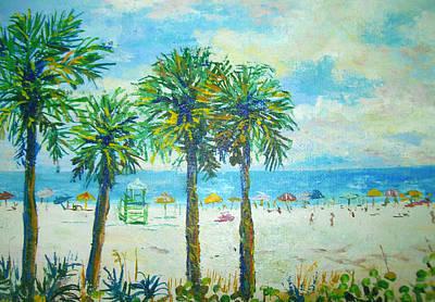 Siesta Key Beach Poster by Lou Ann Bagnall