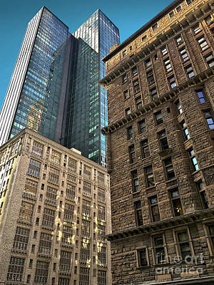 Poster featuring the photograph Sights In New York City - Old And New 2 by Walt Foegelle