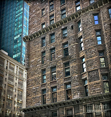 Poster featuring the photograph Sights In New York City - Old And New by Walt Foegelle