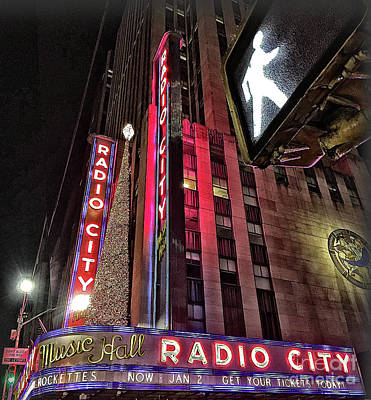 Poster featuring the photograph Sights In New York City - Radio City by Walt Foegelle