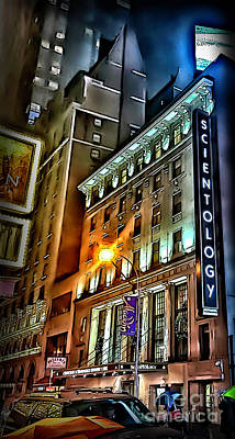 Poster featuring the photograph Sights In New York City - Scientology by Walt Foegelle