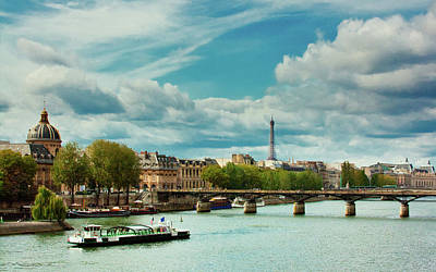 Sightseeing On The River Seine Poster