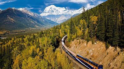 Sightseeing Thru Canadian Rockies Poster