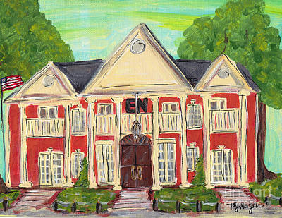 Sigma Nu House At Ole Miss Poster by Tay Morgan