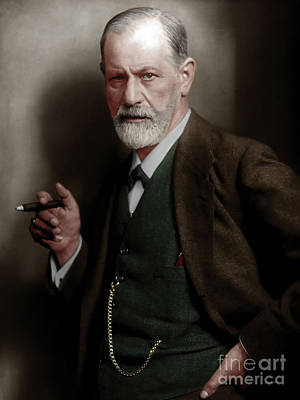 Sigmund Freud Colorized 20170520 Poster by Wingsdomain Art and Photography