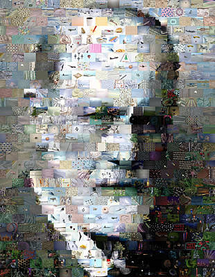 Sigmund Freud Mosaic Poster by Paul Van Scott