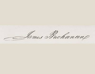 Signature Of James Buchanan 1791 To Poster by Vintage Design Pics