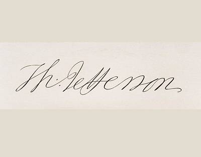 Signature Of Thomas Jefferson Poster