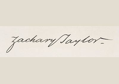 Signature Of Zachary Taylor 1784 To Poster