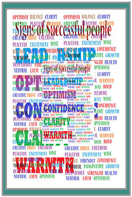 Signs Of Successful People A Texto-graphic Of Leadership Qualities Poster Poster