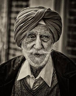Sikh Parade Nyc 2015 Elderly Sikh Poster by Robert Ullmann