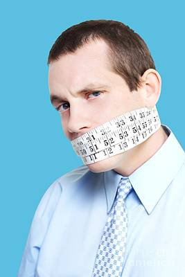 Silent Businessman Showing Measured Restraint Poster by Jorgo Photography - Wall Art Gallery