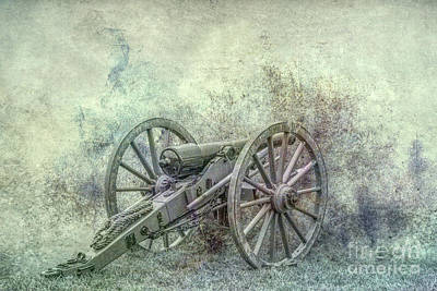 Silent Cannon Field Of Fire Poster by Randy Steele