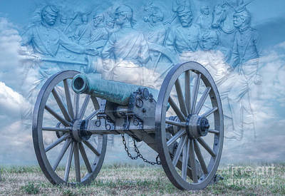 Silent Cannon Gettysburg Version 2 Poster by Randy Steele