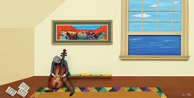 Silent Canvas Poster by Anne Klar