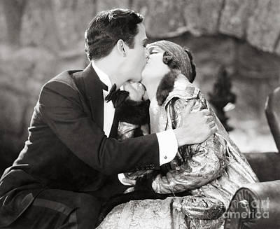 Silent Film Still: Kissing Poster by Granger