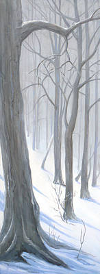 Poster featuring the painting Silent Forest  by Margit Sampogna