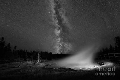Silex Spring Milky Way Bw Poster