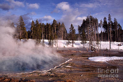 Silex Spring Yellowstone National Park Poster