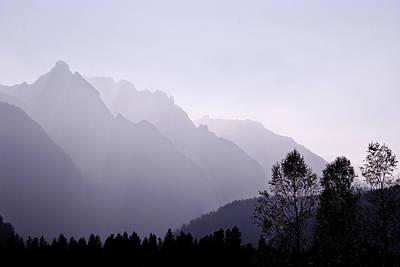 Silhouette Austria Europe Poster