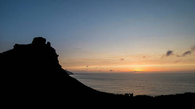 Silhouette Landscape Image Of Valley Of The Rocks In Devon At Su Poster by Matthew Gibson