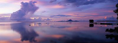 Silhouette Of A Hut In The Sea, Bora Poster