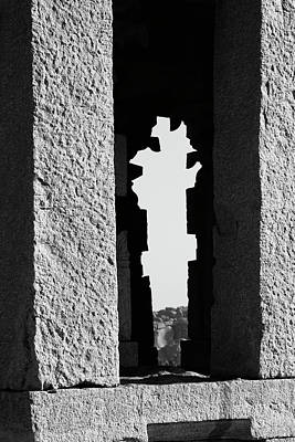 Poster featuring the photograph Silhouette Of Pillars, Hampi, 2017 by Hitendra SINKAR