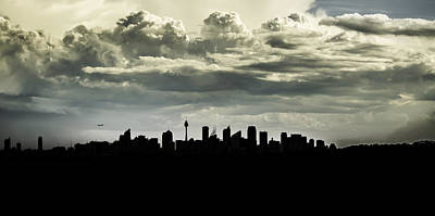 Silhouette Of Sydney Poster