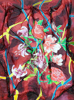 Silk Floral Ribbon Poster