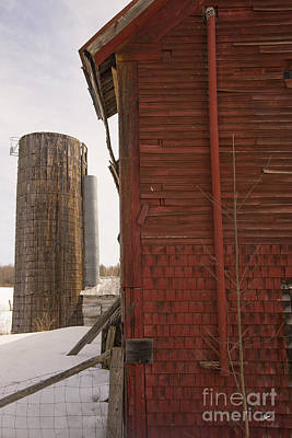 Silo And Red Barn Poster by Alana Ranney