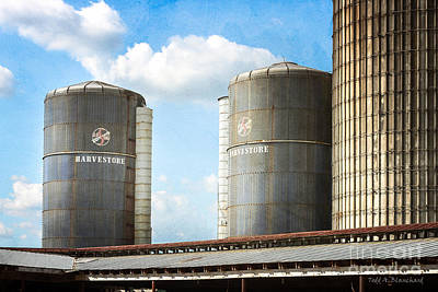 Poster featuring the photograph Silos by Todd Blanchard