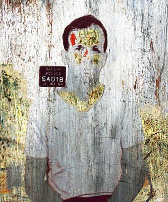 Silver And Gold Lee Harvey Oswald Mug Shot Nov 22 1963 Vertical Color  Poster