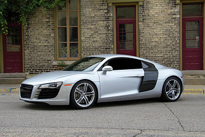 Silver Audi R8 Poster