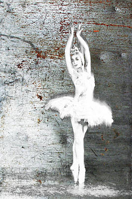 Silver Ballet Dancer Extended Poster by Tony Rubino