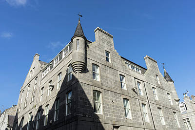 Silver City Architecture - Aberdeen Granite Facade With A Whimsical Tower Poster