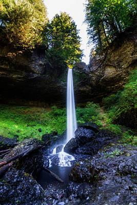 Silver Falls - North Falls 2 Poster by Pelo Blanco Photo