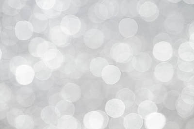 Silver Grey Bokeh Abstract Poster