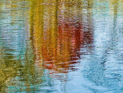 Silver Lake Autumn Reflections Poster