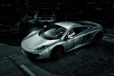 Poster featuring the photograph Silver Mclaren by Joel Witmeyer