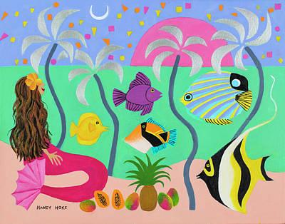 Silver Palms Poster by Nancy Hoke