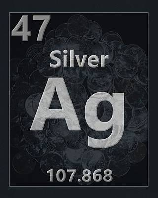 Silver Periodic Table Poster by Dan Sproul