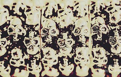 Silver Skull Art Poster