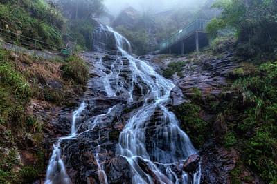 Silver Waterfall - Vietnam Poster by Joana Kruse