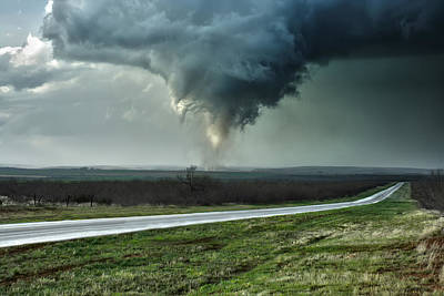 Poster featuring the photograph Silverton Texas Tornado 2 by James Menzies